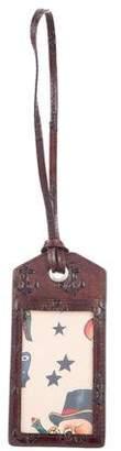 Jack Spade Embossed Leather Luggage Tag