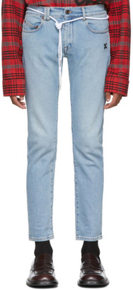 Off-White Blue Diag Skinny Jeans