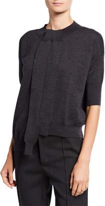 Marni Half-Sleeve Wool Cardigan