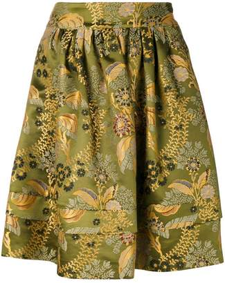 Etro floral patterned full skirt