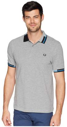 Fred Perry Abstract Tipped Pique Shirt Men's Clothing