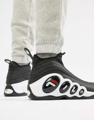 Fila Bubbles Zip Trainer In Black
