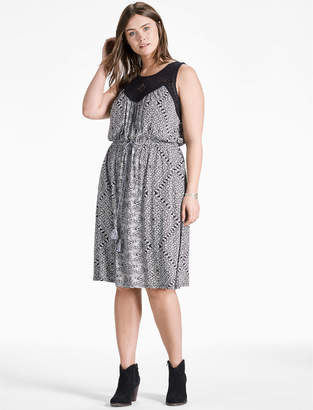 Lucky Brand KNIT MACRAME DRESS