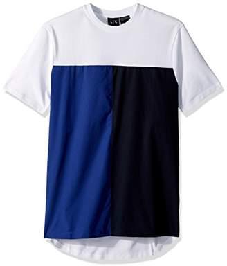 Armani Exchange A|X Men's Color Block Short Sleeve tee