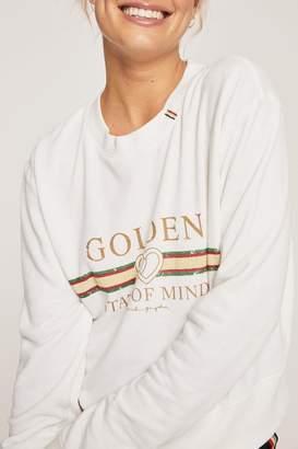 Spiritual Gangster Golden Crop Sweatshirt