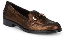 Tod's Metallic Leather Penny Loafers