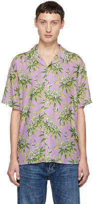 SSS World Corp Purple Weed Hibiscus Shirt