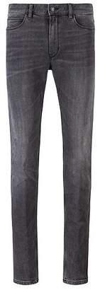 HUGO BOSS Skinny-fit jeans in mid-grey stretch denim