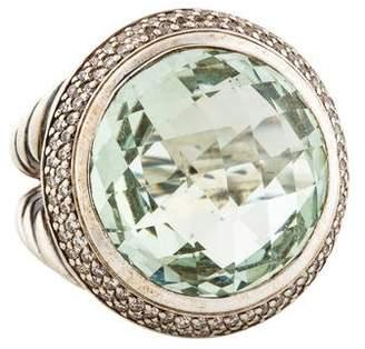 David Yurman Albion Diamond & Prasiolite Cocktail Ring
