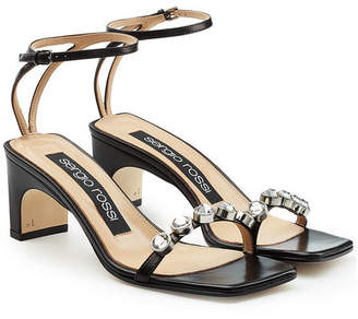 Sergio Rossi Embellished Leather Sandals