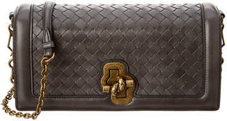 Bottega Veneta Intrecciato Nappa Leather Top Knot Clutch