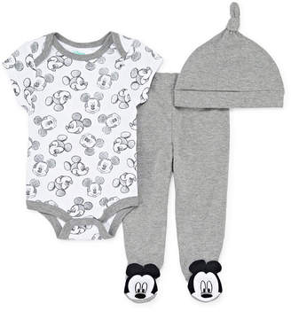 DISNEY MICKEY MOUSE Disney 3-pc. Mickey and Friends Baby Clothing Set-Baby Unisex