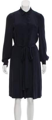 Diane von Furstenberg Long Sleeve Cropped Romper