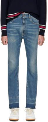Maison Margiela Indigo Cropped Jeans
