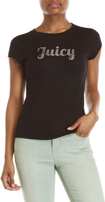 Juicy Couture Embellished Logo Jersey Tee