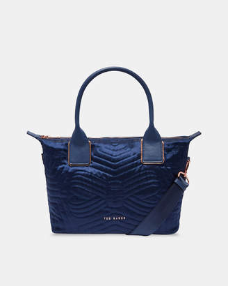 Ted Baker AKEBIA Quilted bow small nylon tote bag