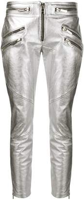 DSQUARED2 metallic leather trousers