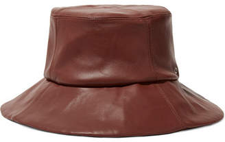 CLYDE Leather Bucket Hat - Chocolate