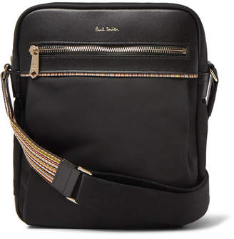 Paul Smith Webbing and Leather-Trimmed Shell Messenger Bag