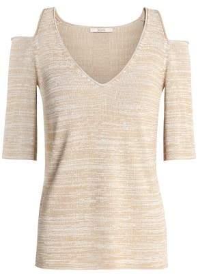 Dagmar House Of Farrah Cold-Shoulder Jacquard-Knit Sweater