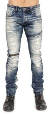 Cult of Individuality Straight-Fit Moto Jeans
