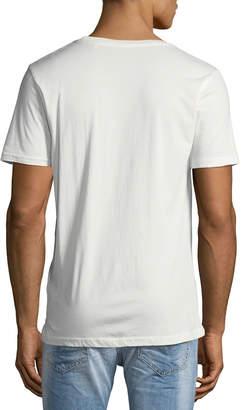 Knowledge Cotton Apparel Men's Big Owl Graphic T-Shirt