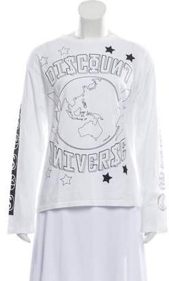 Discount Universe Graphic Long Sleeve Top White Discount Universe Graphic Long Sleeve Top