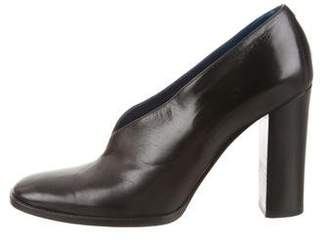 Celine Leather Round-Toe Booties