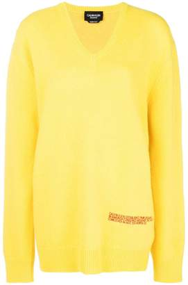 Calvin Klein v neck oversized jumper
