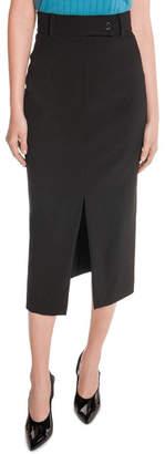 High Waist Front Split Skirt