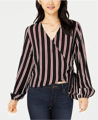 Project 28 Nyc Juniors' Striped Wrap Blouse
