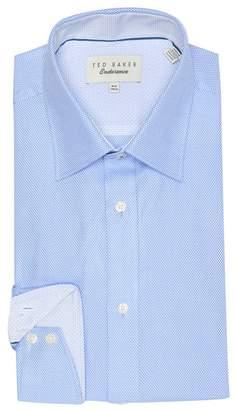 Ted Baker Axle Endurance Dobby Texture Trim Fit Dress Shirt