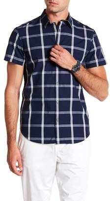 Calvin Klein Short Sleeve Triple Bar Plaid Shirt