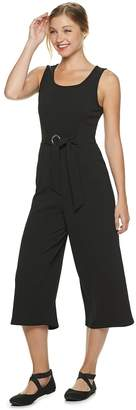 Almost Famous Juniors' Wide-Leg Capri Jumpsuit