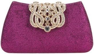 Fawziya Crown Clutches For Women Evening Glitter Box Clutch Purses