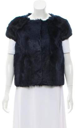 Pologeorgis Collarless Fur Vest
