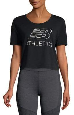 New Balance Logo Graphic Cropped Athletic Tee