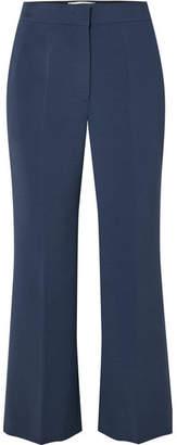 Fendi Cropped Cady Flared Pants - Blue