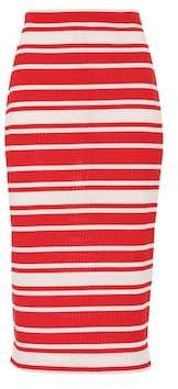 Prada Striped knit midi skirt