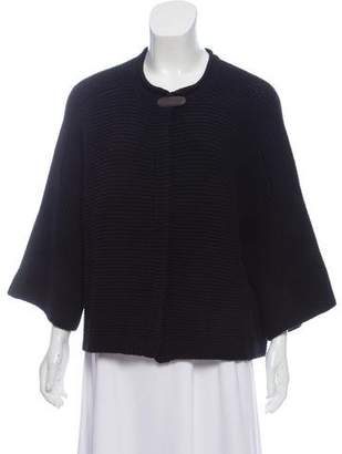 Fabiana Filippi Silk-Wool Crew Neck Cardigan