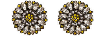 Heidi Daus Petal Perfection Flower Clip-On Button Earrings