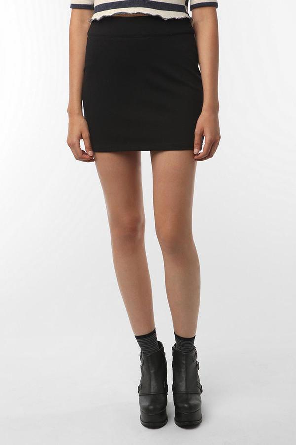 Silence & Noise Zipper Mini Skirt