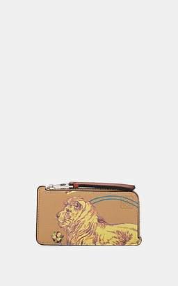 Loewe Men's Desert Leather Zip-Around Card Case - Beige, Tan