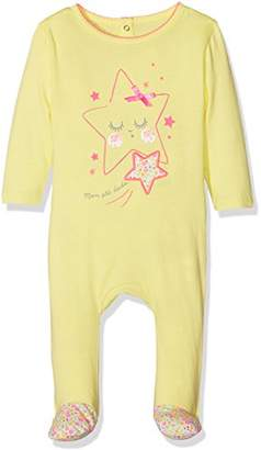Dodo Homewear Baby Girls' LFD.Stars.GRE Onesie, Pink Rose Pale, (Sizes: 23 M)