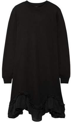 Clu Silk-paneled French Cotton-terry Mini Dress