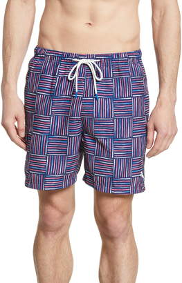Tommy Bahama Naples Lei Como Check Swim Trunks