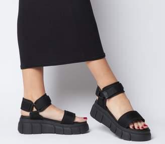 Office Marshall Chunky Multi Strap Sandals Black