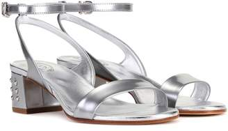 Tod's Metallic leather sandals
