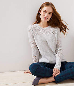 LOFT Lacy Pointelle Sweater