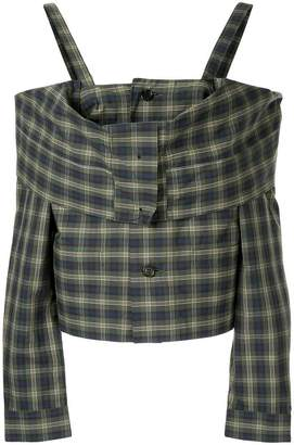 Ambush off shoulder check shirt